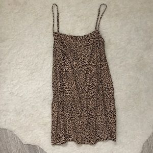 Reformation cheetah print mini dress